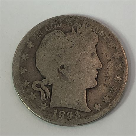 1893 Barber Half Dollar Coin