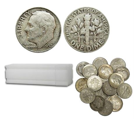 90% Silver Roosevelt Dimes $100 Face Value **IN STOCK SHIPS NEXT DAY**