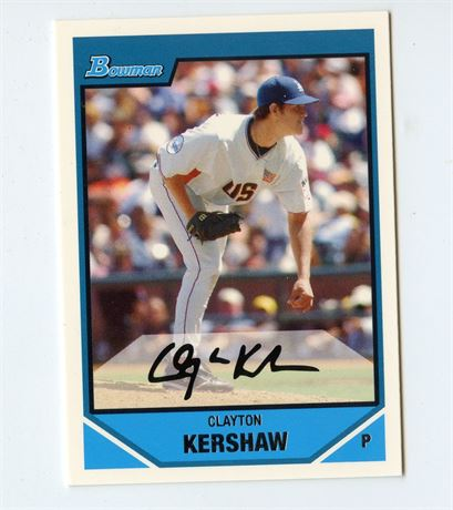 CLAYTON KERSHAW RC 2007 BOWMAN DRAFT BDPP77 LOS ANGELES DODGERS HOT INVEST
