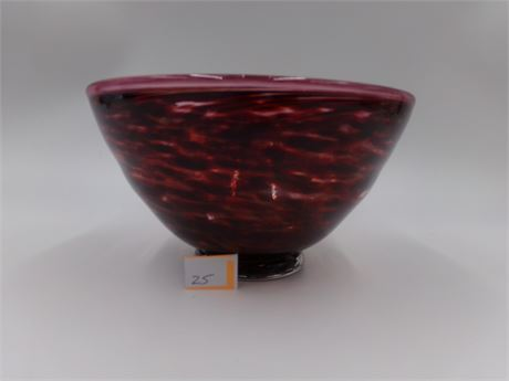 Decorative Red Glass Bowl
