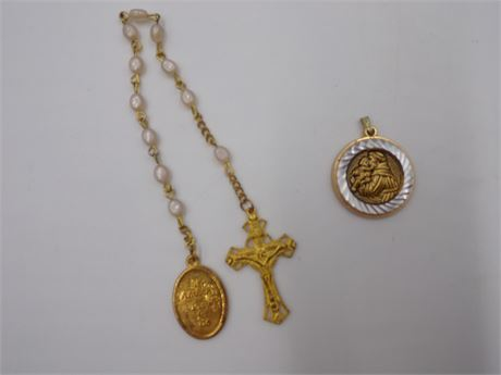 St. Anthony Pendent and Mini Rosary