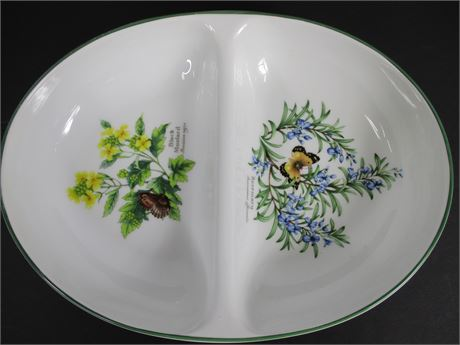 "Royal Worcester ""Worcester Herbs"" Divided Serving Bowl"