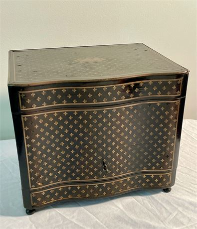 19th C. French Boulle Tantalus Liquor Box
