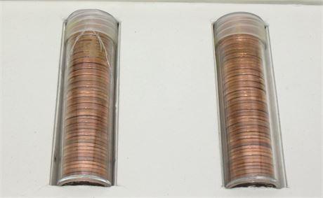 2 rolls US pennies