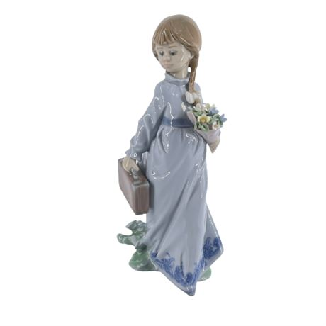 Lladro 'School Days' 7604 Porcelain Figurine
