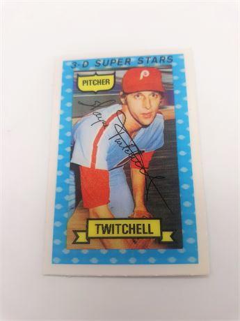 Wayne Twitchell Philadelphia Phillies #26 3D Signed Baseball Card