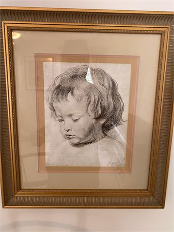 Signed Print of a Child
