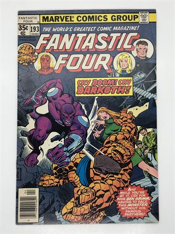 Fantastic Four #193 Comic Book Darkoth