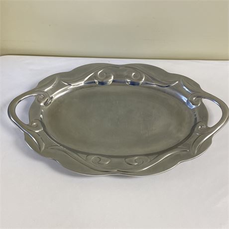 Wilton Armetale Scroll Large Oval Serving Tray with box