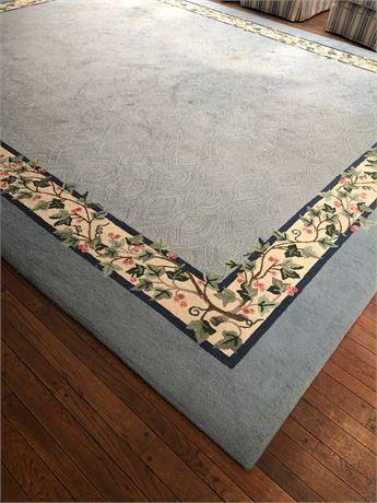 Room Size Area Rug Wool Cotton Loop