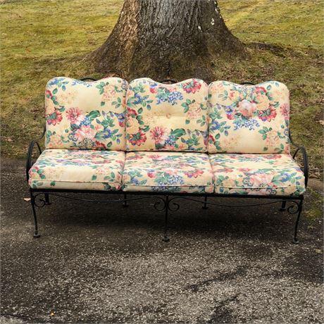 Wrought Iron Outdoor Sofa