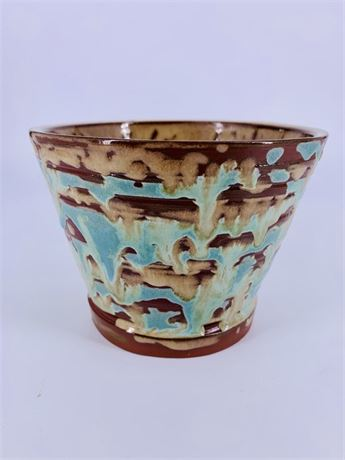 Artisan Crafted Pottery - artist Signed blue/green