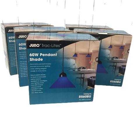 5 Juno Pendant Lights (Cobalt Blue)