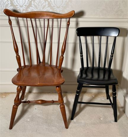 2 Spindle Back Chairs