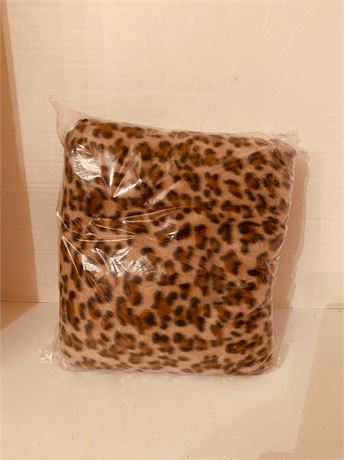 Plush Leopard Throw new in bag