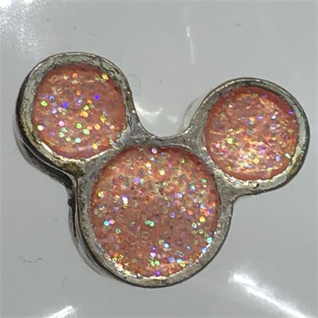 Sterling Silver Pink Mickey Mouse Disney Trollbead Charm