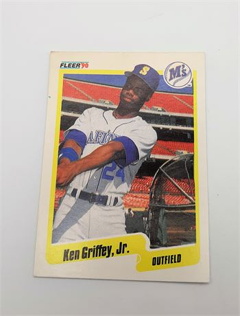 Ken Griffey, Jr. Fleer 1990 #513 Baseball Card