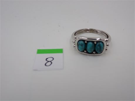 Avon Blue Colored Stone Ring
