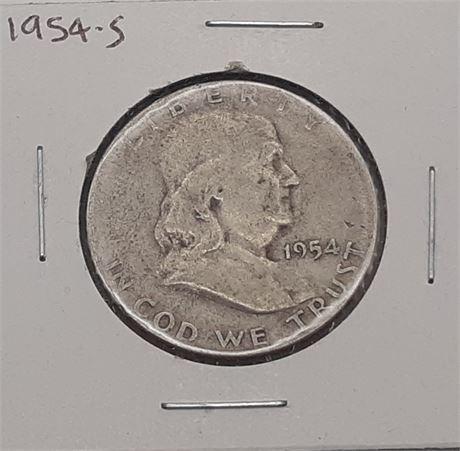 1954 S Franklin Liberty Half Dollar