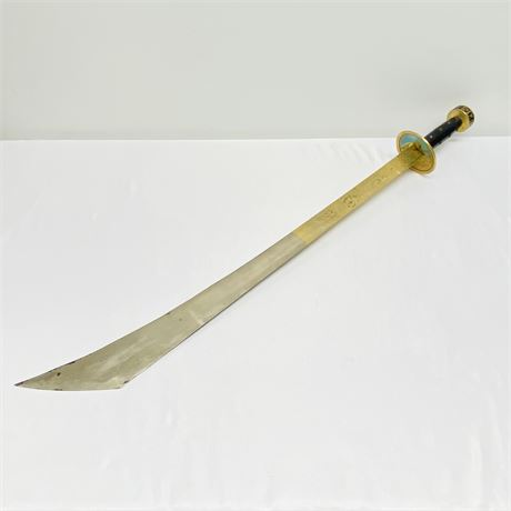 Decorative Solid Steel Sword with Asian Design