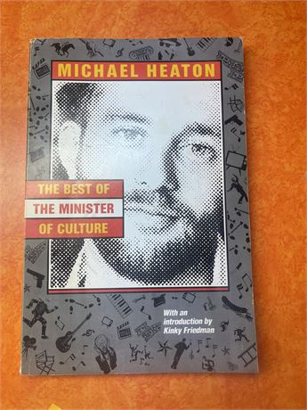 Autographed The Best Minister of Culture By Michael Heaton