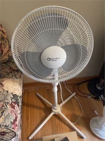 """Comfort Zone Floor Fan 16"""""""