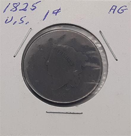 1825 Large Cent