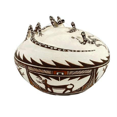 Noreen Simplicio Zuni Pueblo Acoma Seed Pot