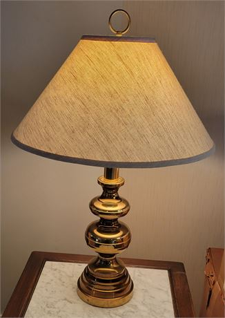 Brass Occasional Table Lamp