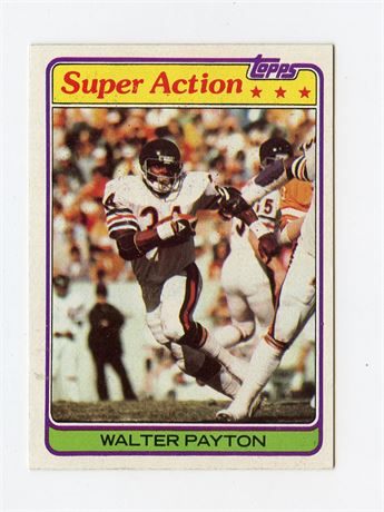 WALTER PAYTON 1981 TOPPS SUPER ACTION #202 CHICAGO BEARS