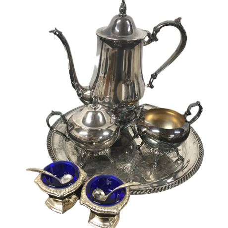 Lot of Silverplate Coffee Set