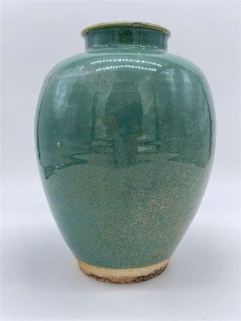 Chinese Qing Dynasty Green Glazed Vase