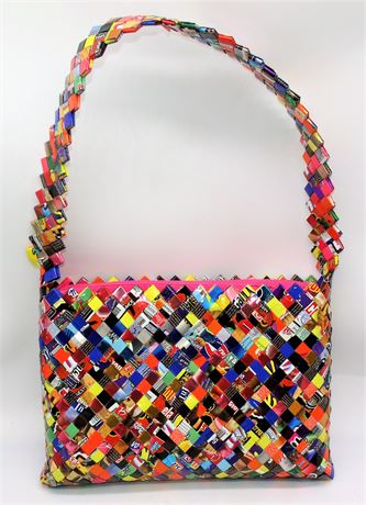 Candy Wrapper woven purse