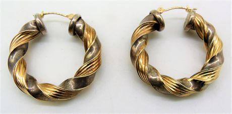 14K & Sterling earrings Peter Brams