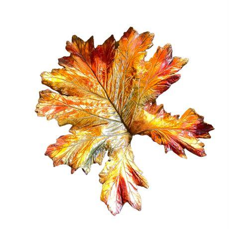 Artisan Earthenware Cast Autumnal Leaf